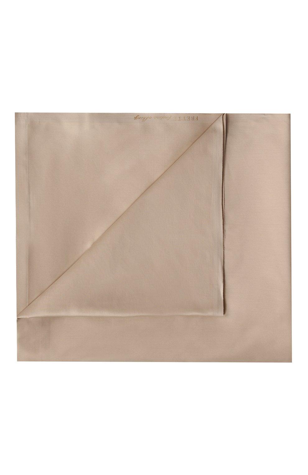 Мужского хлопковая простынь FRETTE бежевого цвета, арт. FR0000 E0200 180L   Фото 1