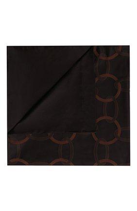Мужского хлопковый пододеяльник FRETTE черного цвета, арт. FR6593 E3641 200A | Фото 1