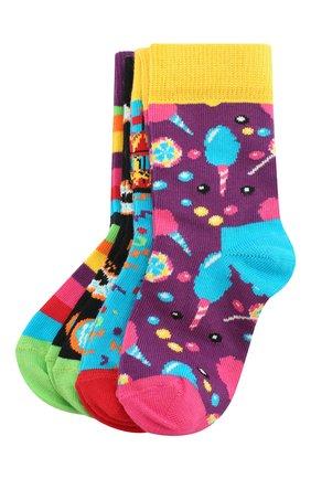Детские комплект из 4 пар носков HAPPY SOCKS разноцветного цвета, арт. XKID09 | Фото 1