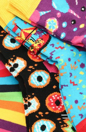 Детские комплект из 4 пар носков HAPPY SOCKS разноцветного цвета, арт. XKID09 | Фото 2