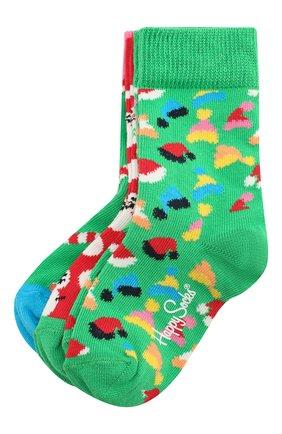 Детские комплект из 3 пар носков HAPPY SOCKS разноцветного цвета, арт. XKID08 | Фото 1