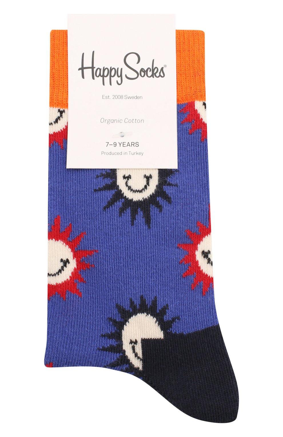 Детские носки HAPPY SOCKS разноцветного цвета, арт. KSMS01 | Фото 1 (Материал: Текстиль, Хлопок)