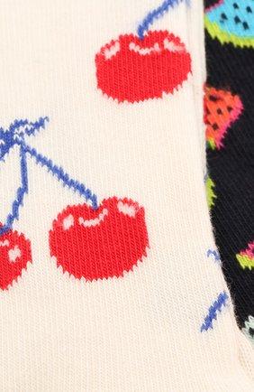 Детские комплект из 2 пар носков HAPPY SOCKS разноцветного цвета, арт. KCHE02 | Фото 2