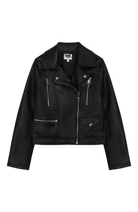 Детская куртка KARL LAGERFELD KIDS черного цвета, арт. Z16079 | Фото 1