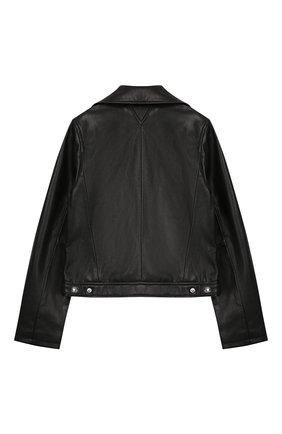 Детская куртка KARL LAGERFELD KIDS черного цвета, арт. Z16079 | Фото 2