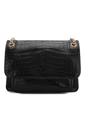 Женская сумка niki из кожи аллигатора SAINT LAURENT черного цвета, арт. 548942/L0D0K/AMIS | Фото 1