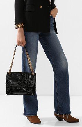 Женская сумка niki из кожи аллигатора SAINT LAURENT черного цвета, арт. 548942/L0D0K/AMIS | Фото 2