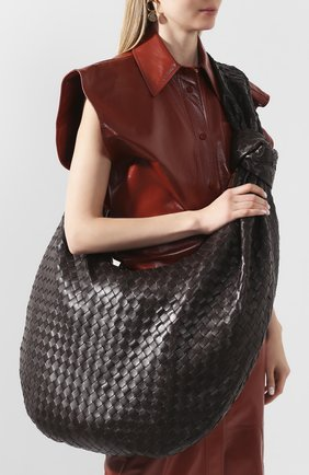 Женская сумка bv jodie maxi BOTTEGA VENETA темно-коричневого цвета, арт. 618468/VCPP0 | Фото 2