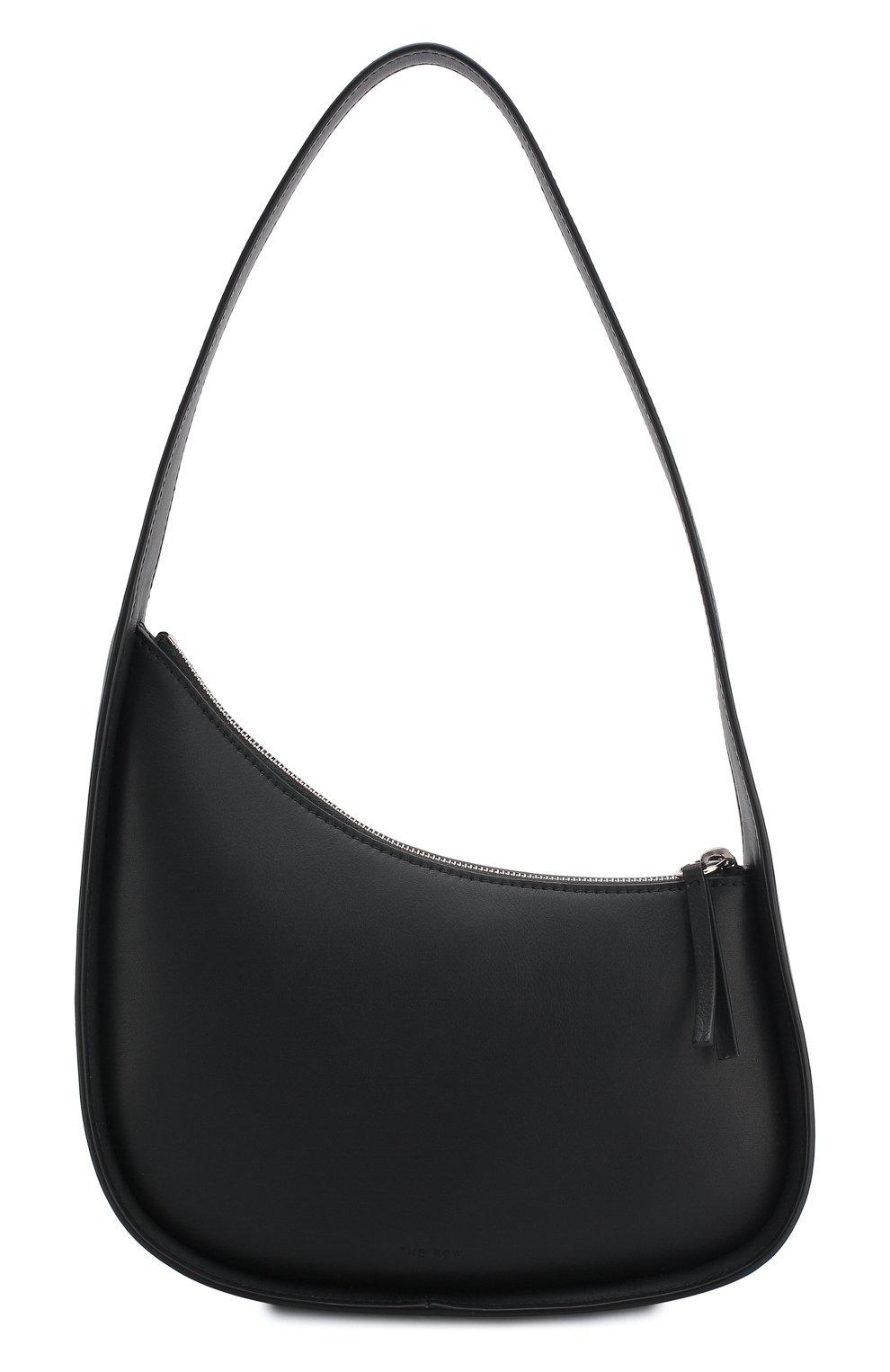 Женская сумка half moon THE ROW черного цвета, арт. W1249L52   Фото 1 (Сумки-технические: Сумки top-handle; Материал: Натуральная кожа; Размер: mini)