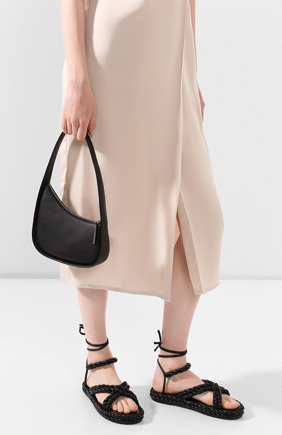 Женская сумка half moon THE ROW черного цвета, арт. W1249L52   Фото 2 (Сумки-технические: Сумки top-handle; Материал: Натуральная кожа; Размер: mini)
