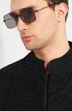 Мужские солнцезащитные очки MCQ SWALLOW черного цвета, арт. MQ0264SA 001 | Фото 2