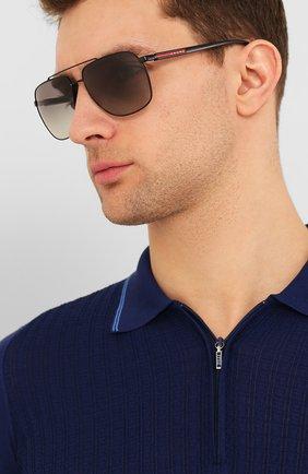 Мужские солнцезащитные очки PRADA LINEA ROSSA черного цвета, арт. 55VS-1AB3M1 | Фото 2