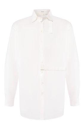 Мужская хлопковая рубашка ISABEL BENENATO белого цвета, арт. UW31S20 | Фото 1