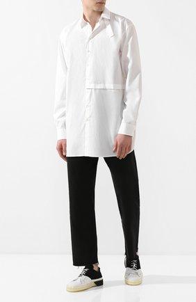 Мужская хлопковая рубашка ISABEL BENENATO белого цвета, арт. UW31S20 | Фото 2