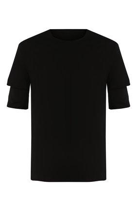 Мужская хлопковая футболка KAZUYUKI KUMAGAI черного цвета, арт. AJ01-216 | Фото 1