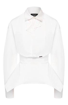 Женская хлопковая рубашка DSQUARED2 белого цвета, арт. S75NC0926/S35244 | Фото 1