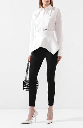 Женская хлопковая рубашка DSQUARED2 белого цвета, арт. S75NC0926/S35244 | Фото 2