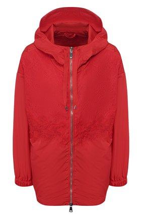 Женская куртка ERMANNO ERMANNO SCERVINO красного цвета, арт. 46T CP15 TAF   Фото 1