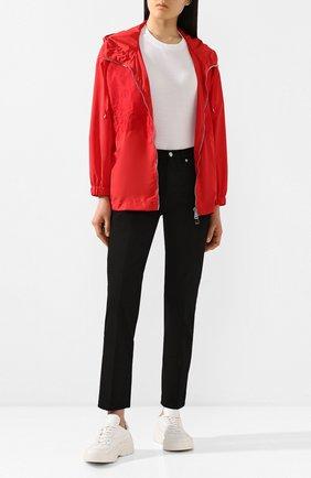 Женская куртка ERMANNO ERMANNO SCERVINO красного цвета, арт. 46T CP15 TAF   Фото 2