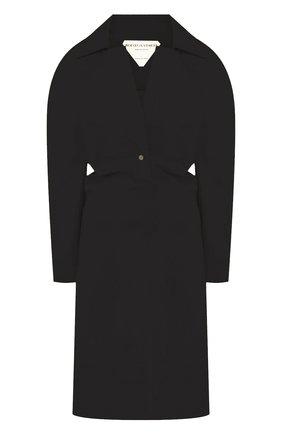 Женское хлопковое платье BOTTEGA VENETA черного цвета, арт. 618495/VKPB0 | Фото 1