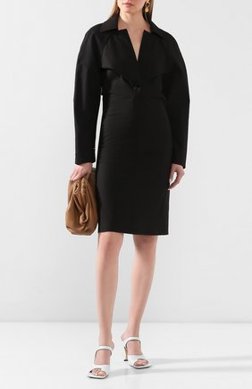 Женское хлопковое платье BOTTEGA VENETA черного цвета, арт. 618495/VKPB0 | Фото 2