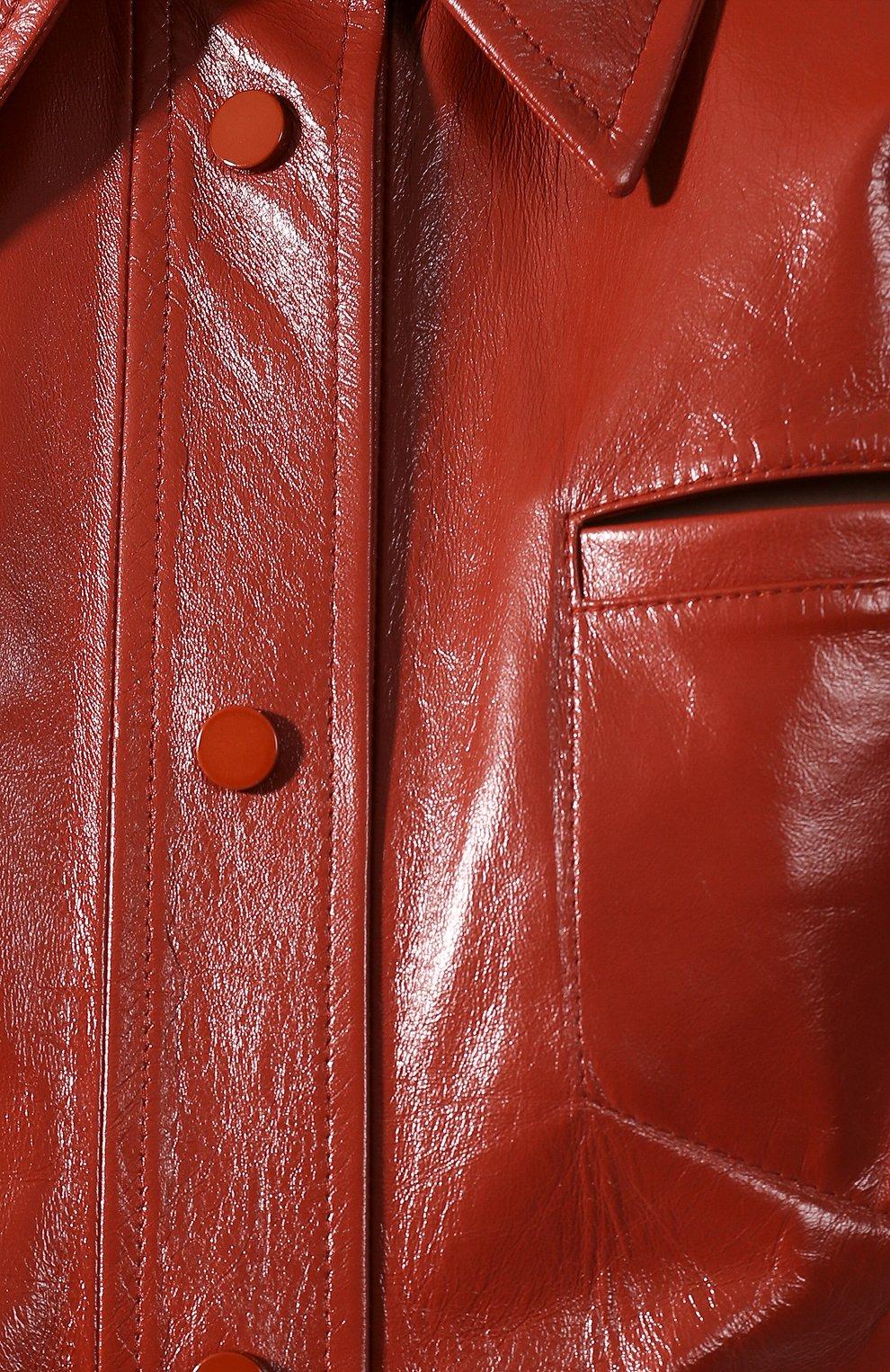 Женское кожаное платье BOTTEGA VENETA коричневого цвета, арт. 618440/VKLC0   Фото 5