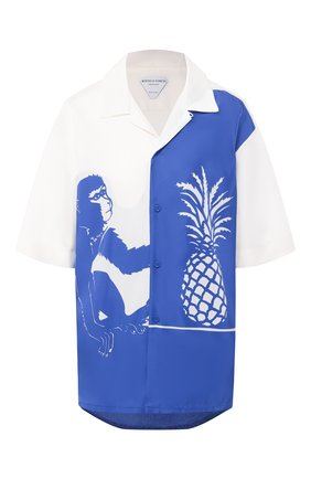 Женская рубашка из вискозы BOTTEGA VENETA синего цвета, арт. 622817/VKT20 | Фото 1