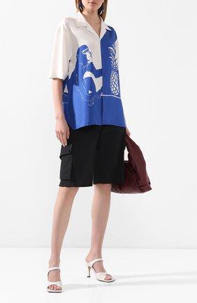 Женская рубашка из вискозы BOTTEGA VENETA синего цвета, арт. 622817/VKT20 | Фото 2