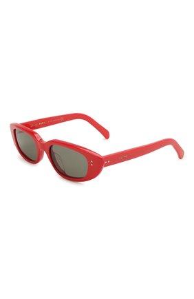 Женские солнцезащитные очки CELINE EYEWEAR красного цвета, арт. 40095U | Фото 1