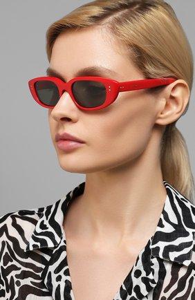 Женские солнцезащитные очки CELINE EYEWEAR красного цвета, арт. 40095U | Фото 2