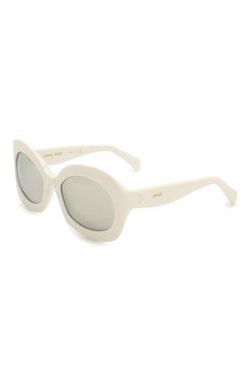 Женские солнцезащитные очки CELINE EYEWEAR белого цвета, арт. 40097I | Фото 1