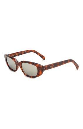 Мужские солнцезащитные очки CELINE EYEWEAR леопардового цвета, арт. 40095U | Фото 1