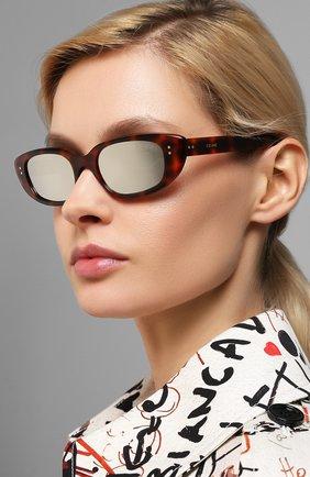 Мужские солнцезащитные очки CELINE EYEWEAR леопардового цвета, арт. 40095U | Фото 2