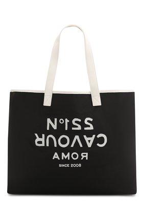 Женская сумка-шопер 5PREVIEW черного цвета, арт. W503 | Фото 1