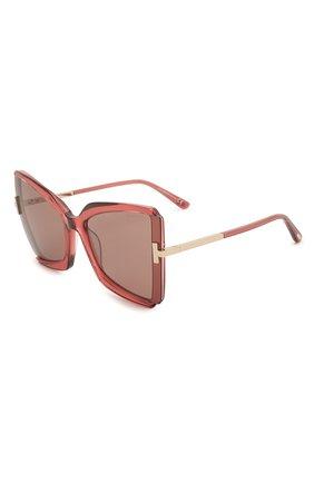 Мужские солнцезащитные очки TOM FORD красного цвета, арт. TF766 | Фото 1