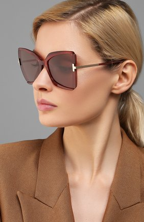 Мужские солнцезащитные очки TOM FORD красного цвета, арт. TF766 | Фото 2