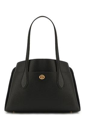 Женская сумка lora COACH черного цвета, арт. 89486 | Фото 1
