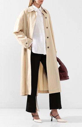 Женская кожаные туфли ray 65 JIMMY CHOO белого цвета, арт. RAY 65/JWR | Фото 2
