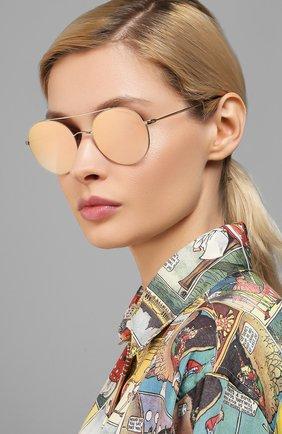 Женские солнцезащитные очки GIORGIO ARMANI розового цвета, арт. AR6050 | Фото 2