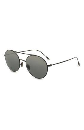 Мужские солнцезащитные очки GIORGIO ARMANI серебряного цвета, арт. AR6050 | Фото 1