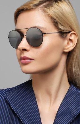 Женские солнцезащитные очки GIORGIO ARMANI серебряного цвета, арт. AR6050   Фото 2