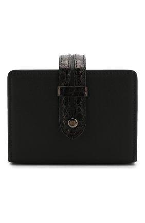 Мужской футляр для карт ERMENEGILDO ZEGNA черного цвета, арт. E1574E/LHAPS/AMIS | Фото 1