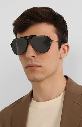 Мужские солнцезащитные очки DOLCE & GABBANA черного цвета, арт. 2258Q-11066G | Фото 2