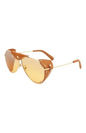 Мужские солнцезащитные очки DOLCE & GABBANA коричневого цвета, арт. 2258Q-02/7H | Фото 1