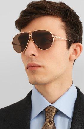 Мужские солнцезащитные очки TOM FORD золотого цвета, арт. TF734-H | Фото 2