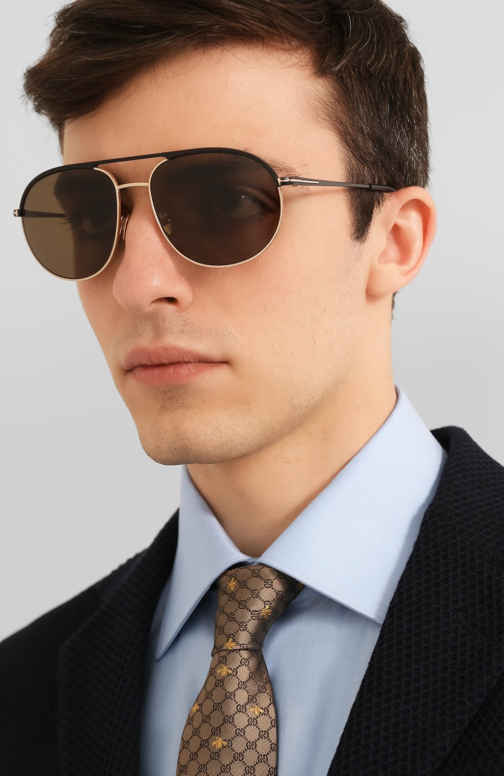 Мужские солнцезащитные очки TOM FORD черного цвета, арт. TF772   Фото 2