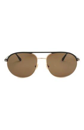 Мужские солнцезащитные очки TOM FORD черного цвета, арт. TF772   Фото 3
