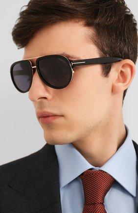 Мужские солнцезащитные очки TOM FORD черного цвета, арт. TF779 | Фото 2