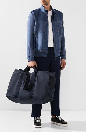 Мужская текстильная дорожная сумка GIORGIO ARMANI темно-синего цвета, арт. Y2N127/YFR6J | Фото 2