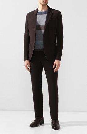 Мужские кожаные оксфорды GIORGIO ARMANI коричневого цвета, арт. X2J135/XF365 | Фото 2 (Материал внутренний: Натуральная кожа; Стили: Классический)